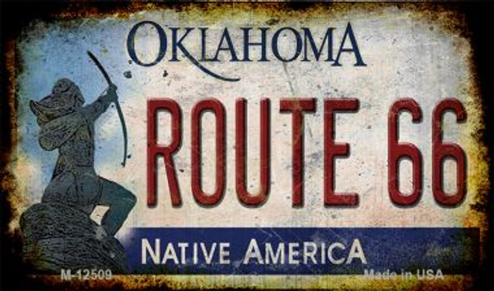 Route 66 Oklahoma Novelty Metal Magnet M-12509