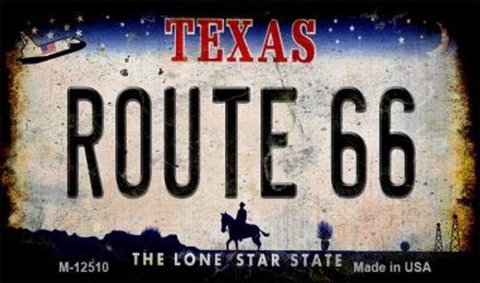 Route 66 Texas Novelty Metal Magnet M-12510