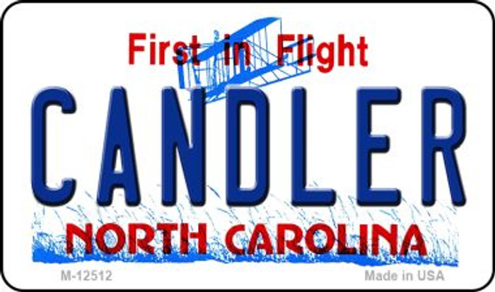 Candler North Carolina Novelty Metal Magnet M-12512