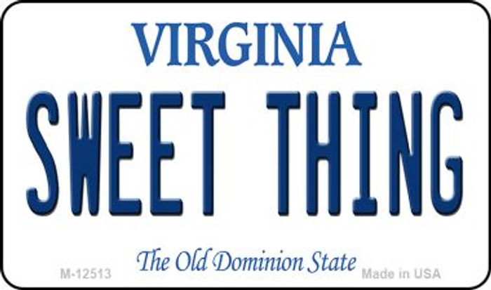 Sweet Thing Virginia Novelty Metal Magnet M-12513