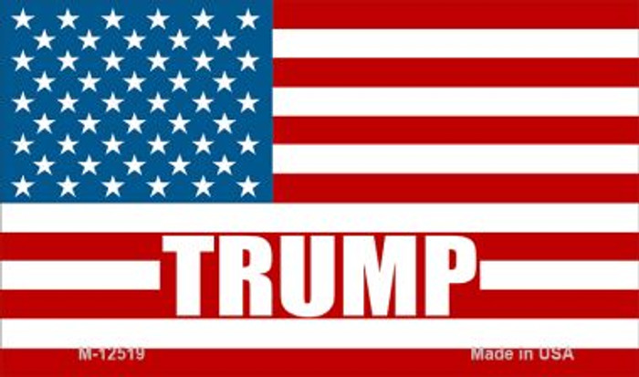 Trump American Flag Novelty Metal Magnet M-12519