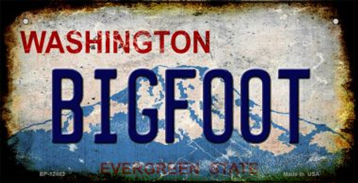 Bigfoot Washington Novelty Metal Bicycle Plate BP-12483