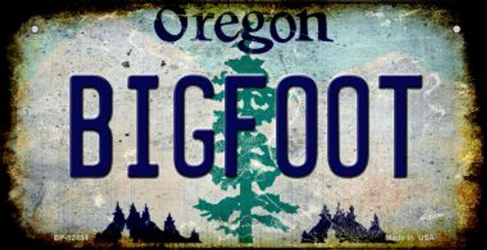 Bigfoot Oregon Novelty Metal Bicycle Plate BP-12484