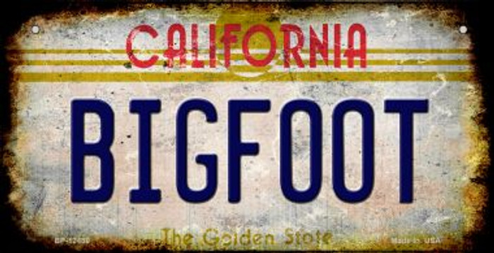 Bigfoot California Novelty Metal Bicycle Plate BP-12486