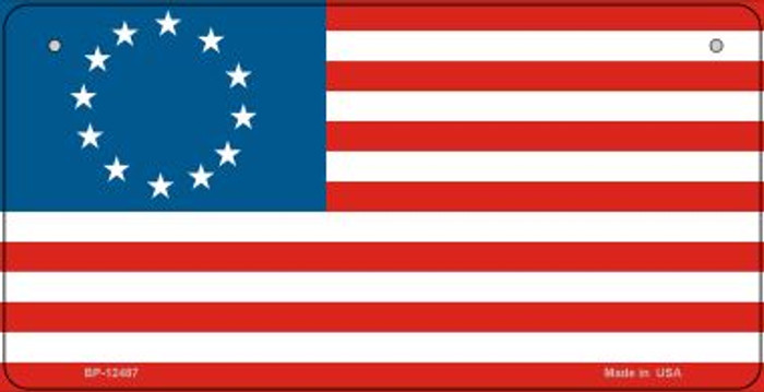 Betsy Ross American Flag Novelty Metal Bicycle Plate BP-12487
