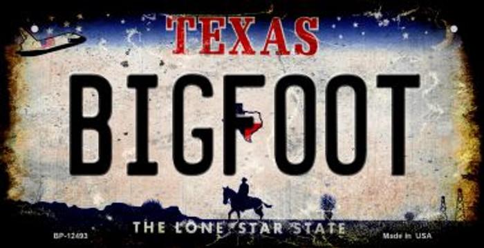 Bigfoot Texas Novelty Metal Bicycle Plate BP-12493
