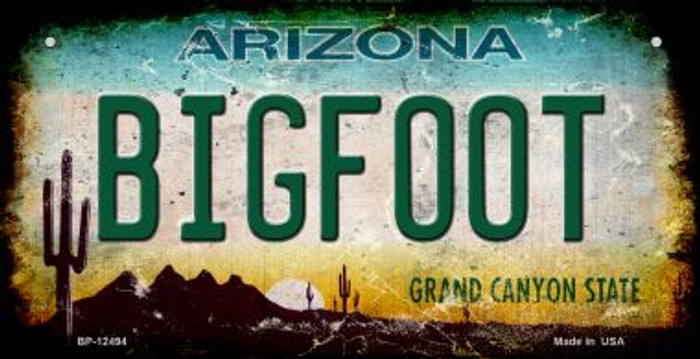 Bigfoot Arizona Novelty Metal Bicycle Plate BP-12494