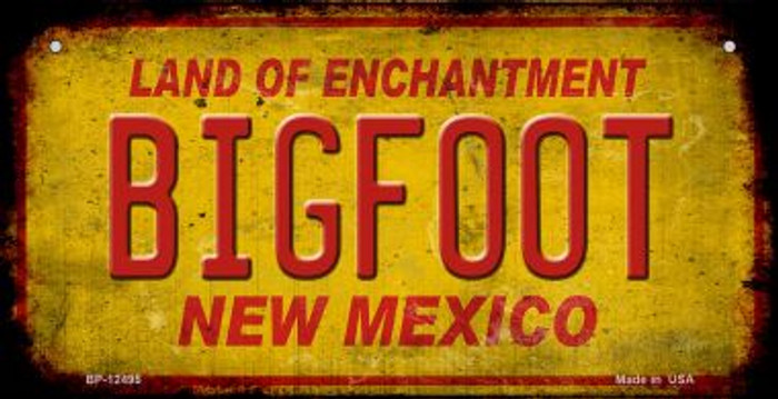 Bigfoot New Mexico Novelty Metal Bicycle Plate BP-12495