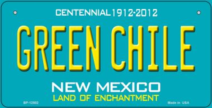 Green Chile New Mexico Green Novelty Metal Bicycle Plate BP-12502