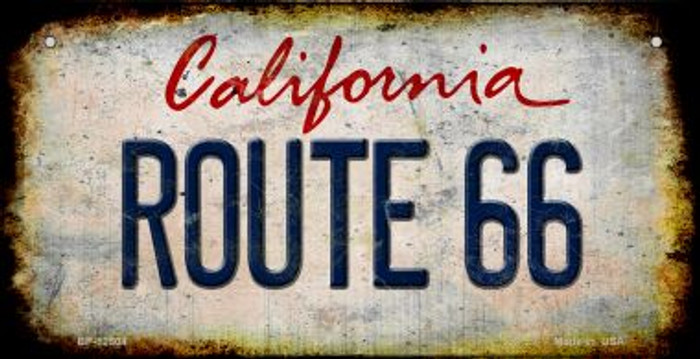 Route 66 California Novelty Metal Bicycle Plate BP-12504