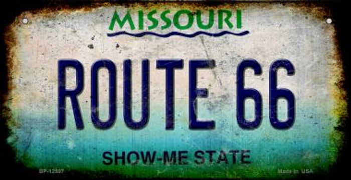 Route 66 Missouri Novelty Metal Bicycle Plate BP-12507