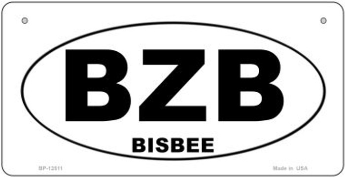 BZB Bisbee Novelty Metal Bicycle Plate BP-12511