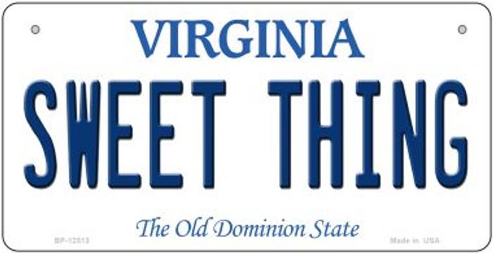 Sweet Thing Virginia Novelty Metal Bicycle Plate BP-12513