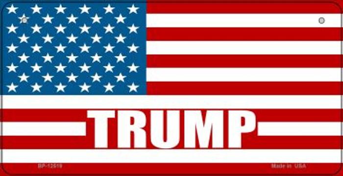 Trump American Flag Novelty Metal Bicycle Plate BP-12519