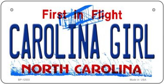Carolina Girl North Carolina Novelty Metal Bicycle Plate BP-12533
