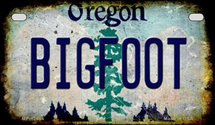 Bigfoot Oregon Novelty Metal Motorcycle Plate MP-12484