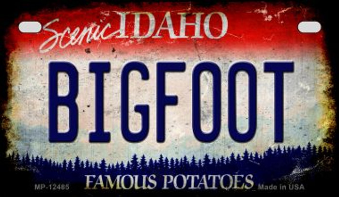 Bigfoot Idaho Novelty Metal Motorcycle Plate MP-12485