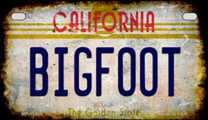 Bigfoot California Novelty Metal Motorcycle Plate MP-12486