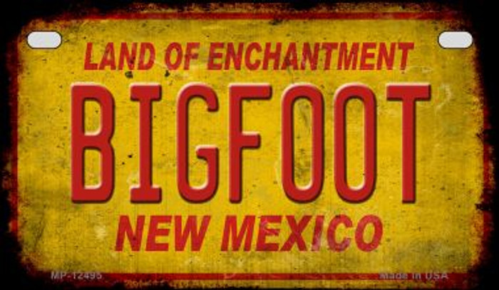 Bigfoot New Mexico Novelty Metal Motorcycle Plate MP-12495
