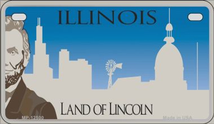 Illinois Blank Novelty Metal Motorcycle Plate MP-12500