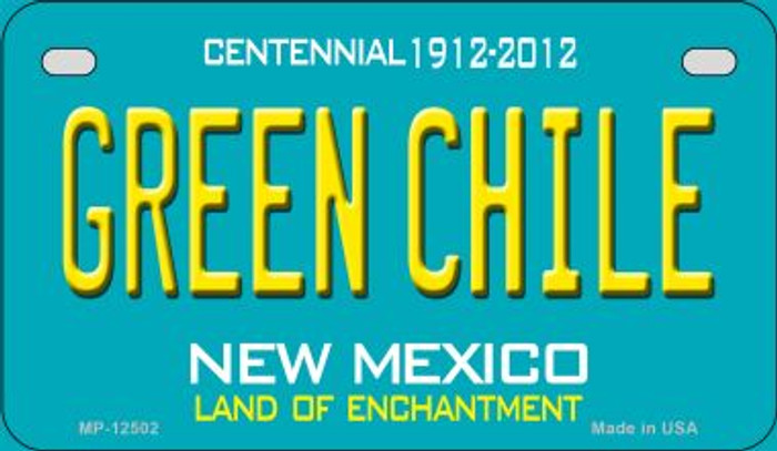 Green Chile New Mexico Green Novelty Metal Motorcycle Plate MP-12502