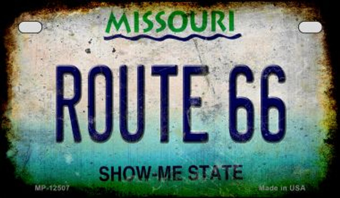 Route 66 Missouri Novelty Metal Motorcycle Plate MP-12507