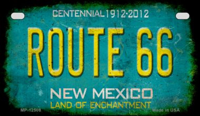 Route 66 New Mexico Novelty Metal Motorcycle Plate MP-12508