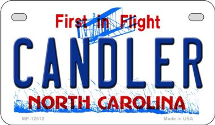Candler North Carolina Novelty Metal Motorcycle Plate MP-12512