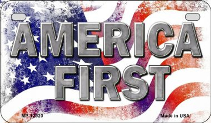 America First Novelty Metal Motorcycle Plate MP-12520