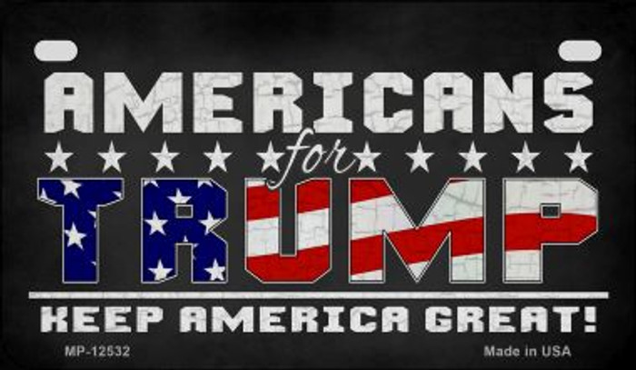 Americans For Trump Novelty Metal Motorcycle Plate MP-12532