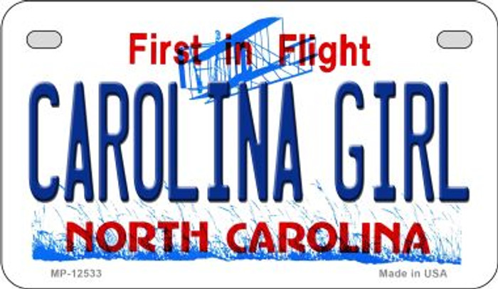 Carolina Girl North Carolina Novelty Metal Motorcycle Plate MP-12533