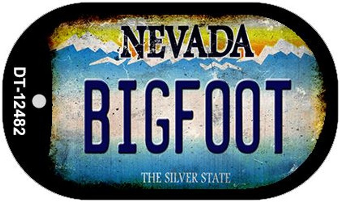 Bigfoot Nevada Novelty Metal Dog Tag Necklace DT-12482