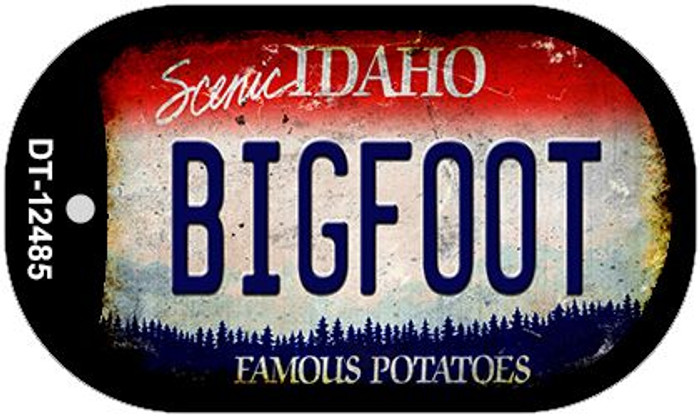 Bigfoot Idaho Novelty Metal Dog Tag Necklace DT-12485