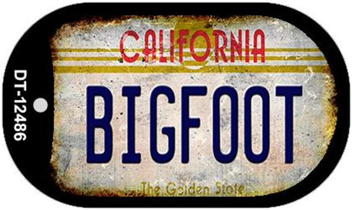 Bigfoot California Novelty Metal Dog Tag Necklace DT-12486