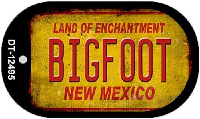 Bigfoot New Mexico Novelty Metal Dog Tag Necklace DT-12495