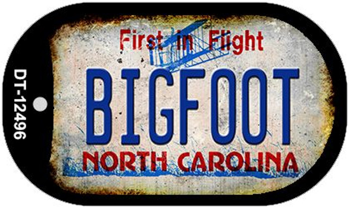 Bigfoot North Carolina Novelty Metal Dog Tag Necklace DT-12496