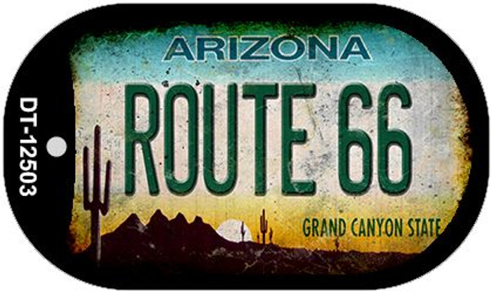 Route 66 Arizona Novelty Metal Dog Tag Necklace DT-12503