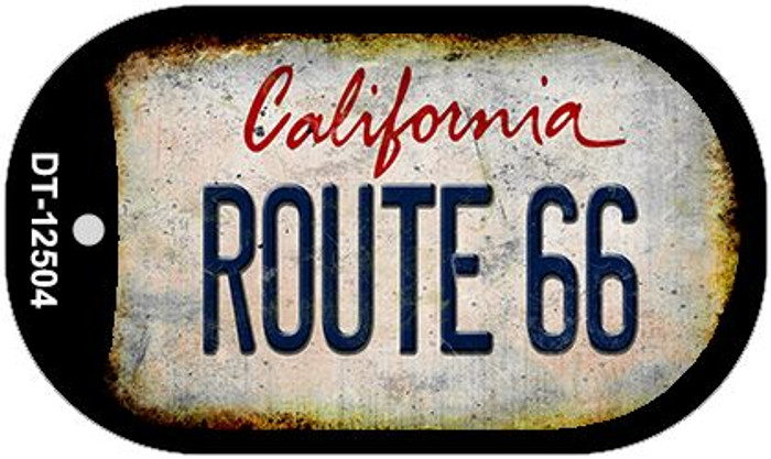 Route 66 California Novelty Metal Dog Tag Necklace DT-12504