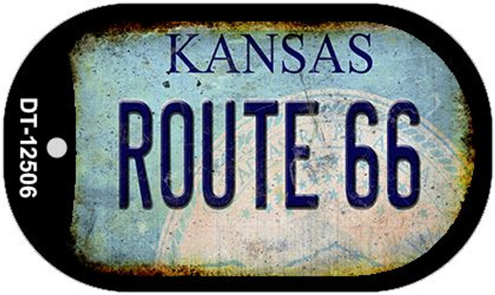 Route 66 Kansas Novelty Metal Dog Tag Necklace DT-12506