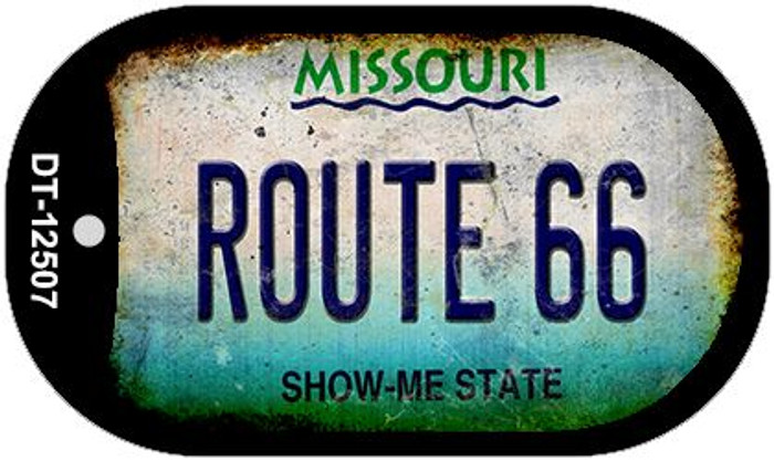 Route 66 Missouri Novelty Metal Dog Tag Necklace DT-12507