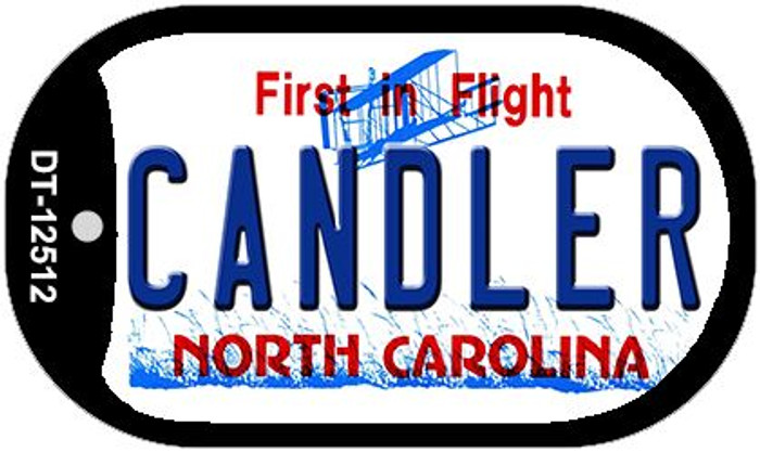 Candler North Carolina Novelty Metal Dog Tag Necklace DT-12512
