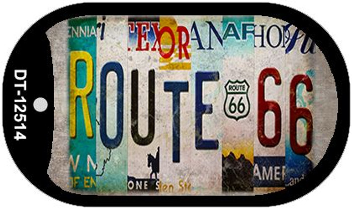 Route 66 Strip Novelty Metal Dog Tag Necklace DT-12514