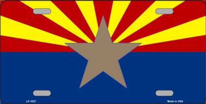 Arizona Big Star State Flag Novelty Metal License Plate