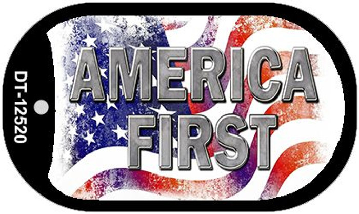 America First Novelty Metal Dog Tag Necklace DT-12520