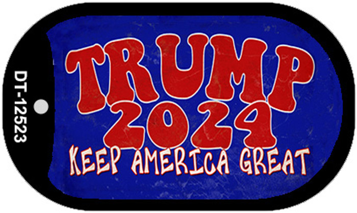 Trump 2024 Keep America Great Novelty Metal Dog Tag Necklace DT-12523
