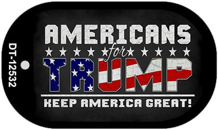 Americans For Trump Novelty Metal Dog Tag Necklace DT-12532