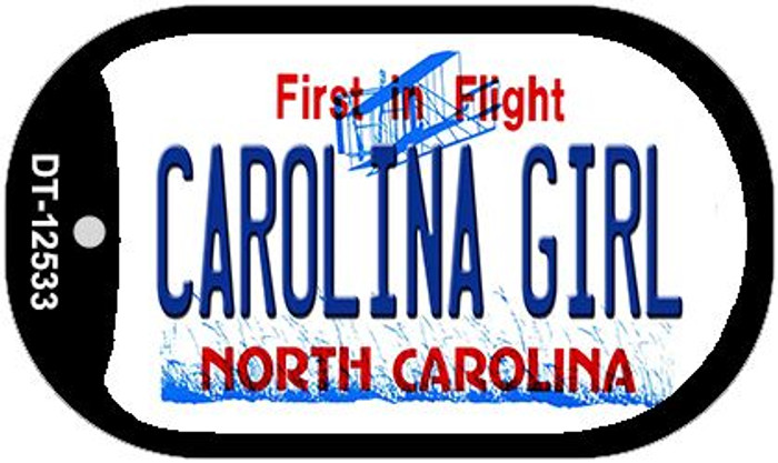 Carolina Girl North Carolina Novelty Metal Dog Tag Necklace DT-12533