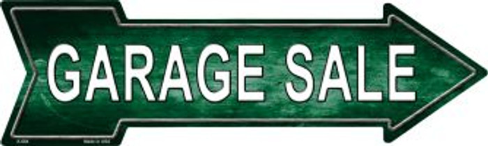 Garage Sale Right Novelty Metal Arrow Sign A-684