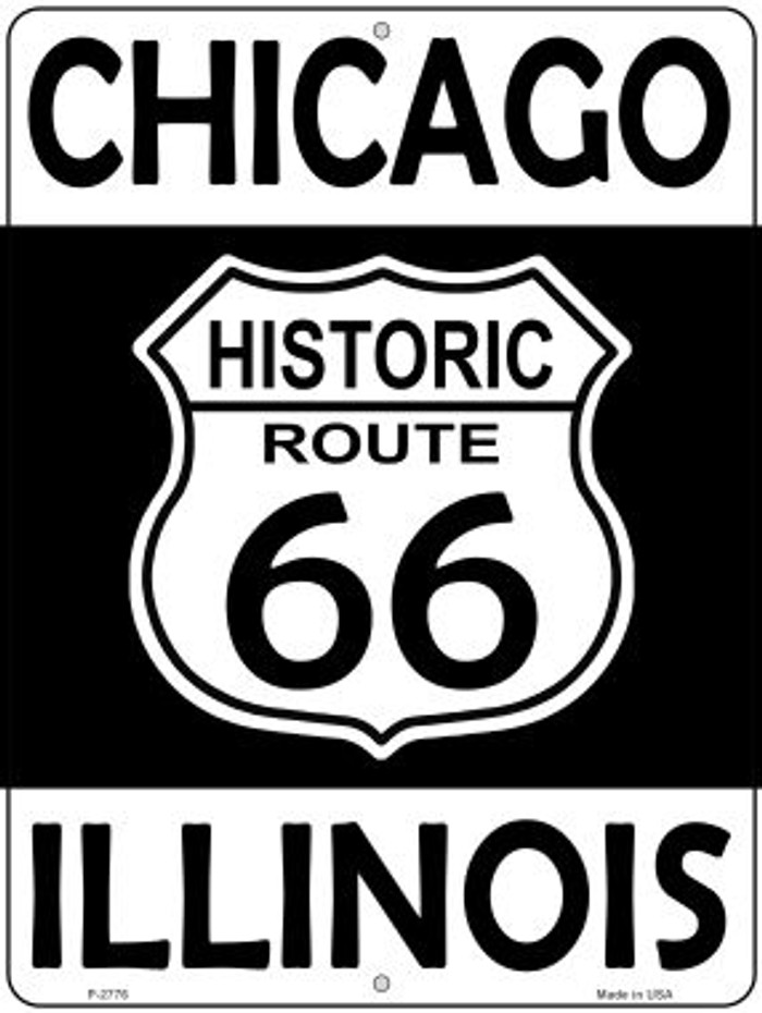 Chicago Illinois Historic Route 66 Novelty Metal Parking Sign P-2776