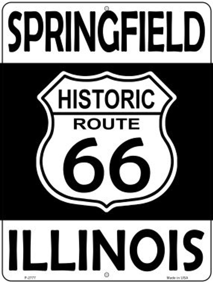 Springfield Illinois Historic Route 66 Novelty Metal Parking Sign P-2777